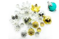 Décors pour perles or et argent - 24 décors - Perles intercalaires - 10doigts.fr