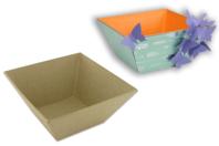 Corbeille vide-poches en papier mâché - Paniers, plateaux en carton - 10doigts.fr