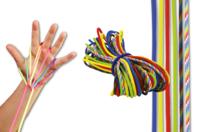 Jeu de ficelle - 6 cordes couleurs Mixte - Jeu de ficelle - 10doigts.fr