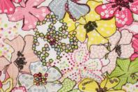 Coupon de tissu imprimé fleurs larges - 43 x 53 cm - Coupons de tissus - 10doigts.fr