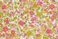 Coupon de tissu imprimé fleurs roses - 43 x 53 cm - Coupons de tissus - 10doigts.fr