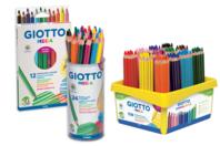 Crayons de couleur GIOTTO Méga - Taille maxi - Crayons de couleurs - 10doigts.fr