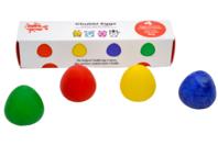 Crayons-oeufs dès 2 ans - 4 couleurs - Dessin 1er âge - 10doigts.fr
