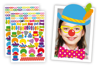 """Crazy Stickers """"Déguise-toi en clown"""" - 208 stickers - Stickers Fantaisies - 10doigts.fr"""