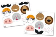 Stickers museaux d'animaux - 12 pièces - Gommettes Animaux - 10doigts.fr