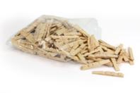 Demi-pinces à linge - Lot de 200 - Pinces à linge en bois brut - 10doigts.fr