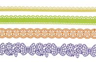 Dentelle adhésive en papier - 4 rouleaux Été - Adhésifs colorés et Masking tape - 10doigts.fr