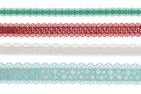 """Dentelle adhésive en papier - 4 rouleaux """"Hiver"""" - Adhésifs colorés et Masking tape - 10doigts.fr"""