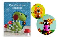 Livre Doudous en feutrine - Livre Mercerie - 10doigts.fr