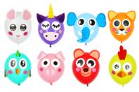 Eléments décoratifs pour ballons - Animaux mignons - Ballons, guirlandes, serpentins - 10doigts.fr