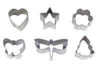 Emporte-pièces métal - Set de 6 formes - Emporte-pièces - 10doigts.fr