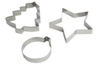 Maxi emporte-pièces en métal : sapin, étoile, boule - Emporte-pièces - 10doigts.fr