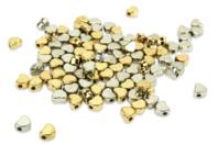 Perles intercalaires cœur or et argent - 100 perles - Perles intercalaires - 10doigts.fr