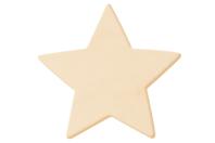 Étoile en bois naturel - Motifs bruts - 10doigts.fr