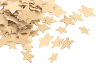 Étoiles en bois - Tailles assorties - Motifs brut - 10doigts.fr