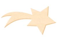 Etoile filante en bois naturel - Motifs brut - 10doigts.fr