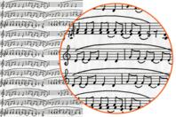 Papier Décopatch Musique - 3 feuilles  N°468 - Papiers Décopatch - 10doigts.fr