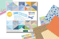 Bloc papiers de scrap Voyage - 180 feuilles - Nouveautés - 10doigts.fr