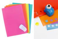 Papiers adhésifs pour gommettes -10 feuilles - Stickers Fantaisies - 10doigts.fr
