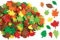 Feuilles d'arbres en caoutchouc souple - Set de 500 - Fleurs et feuilles - 10doigts.fr