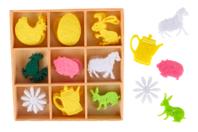 Formes de Pâques en feutrine - 36 formes - Décorations et accessoires de Pâques - 10doigts.fr