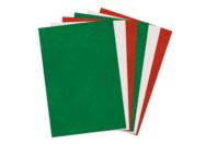 Feutrine couleurs de Noël - 6 feuilles 20 x 30 cm - Feutrine, feutre, toile de jute - 10doigts.fr