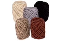 Bobines de jute naturelles - Set de 5 couleurs nature - Raphia et ficelles - 10doigts.fr