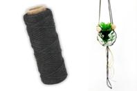 Cordelette en coton noir - 30 m - Cordes naturelles - 10doigts.fr