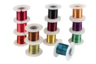 Fil de cuivre coloré Ø 0,4 mm - 12 bobines - Fils aluminium - 10doigts.fr