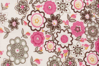 Coupon de tissu imprimé fleurs - 43 x 53 cm - Coupons de tissus - 10doigts.fr