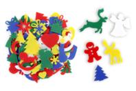 Formes feutrine de Noël - 170 motifs à coller - Feutrine, feutre, toile de jute - 10doigts.fr