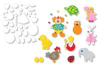 Formes prédécoupées pour créer des animaux ou des personnages - Set de 72 - Supports pré-dessinés - 10doigts.fr