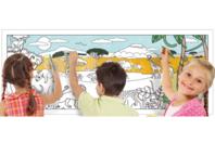 Fresque géante à colorier : Savane Africaine - Supports pré-dessinés - 10doigts.fr