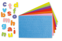 Stickers lettres minuscules en caoutchouc - 950 pièces - Gommettes Alphabet, messages - 10doigts.fr