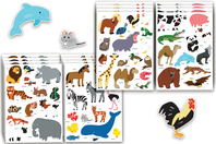 Maxi gommettes animaux - 4 planches - Gommettes Animaux - 10doigts.fr