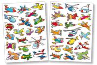 Gommettes avions - 2 planches - Décorations Voyages - 10doigts.fr