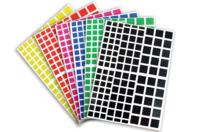 Gommettes carrées - 18 planches - Gommettes Carrées - 10doigts.fr