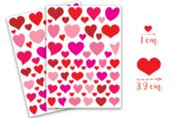 Gommettes cœurs - 4 planches - Stickers, gommettes coeurs - 10doigts.fr