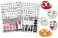 Crazy Face Stickers - 150 Stickers - Gommettes Yeux et Visages - 10doigts.fr