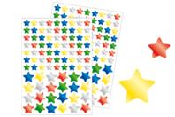 Gommettes étoiles métallisées - 2 planches - Gommettes Noël - 10doigts.fr