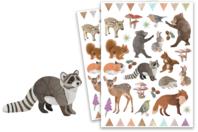 Gommettes animaux de la forêt  - Gommettes Animaux - 10doigts.fr
