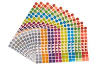 Gommettes géométriques brillantes - 10 planches - Toutes les gommettes géométriques - 10doigts.fr