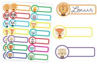 Etiquettes Avatars animaux - 28 étiquettes - Gommettes Animaux - 10doigts.fr