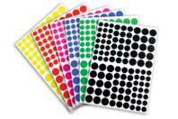 Gommettes rondes 6 couleurs - 18 planches - Gommettes Rondes - 10doigts.fr