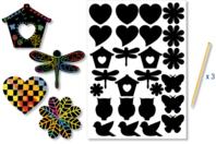Stickers en carte à gratter thème Printemps - 26 pcs - Carte à gratter - 10doigts.fr