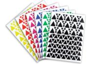 Gommettes Triangles - 18 planches - Toutes les gommettes géométriques - 10doigts.fr