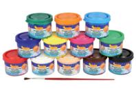 Gouaches en pot - Set de 12 - Peinture gouache liquide - 10doigts.fr