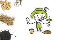 """Kit """"horticulteur"""" - 6 pots - Supports en Céramique et Terre Cuite - 10doigts.fr"""