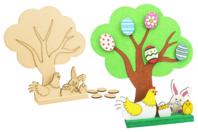 Scénette arbre de Pâques - Kits activités Pâques - 10doigts.fr