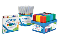 Feutres GIOTTO Turbo Maxi - Pointe large - Feutres Larges - 10doigts.fr